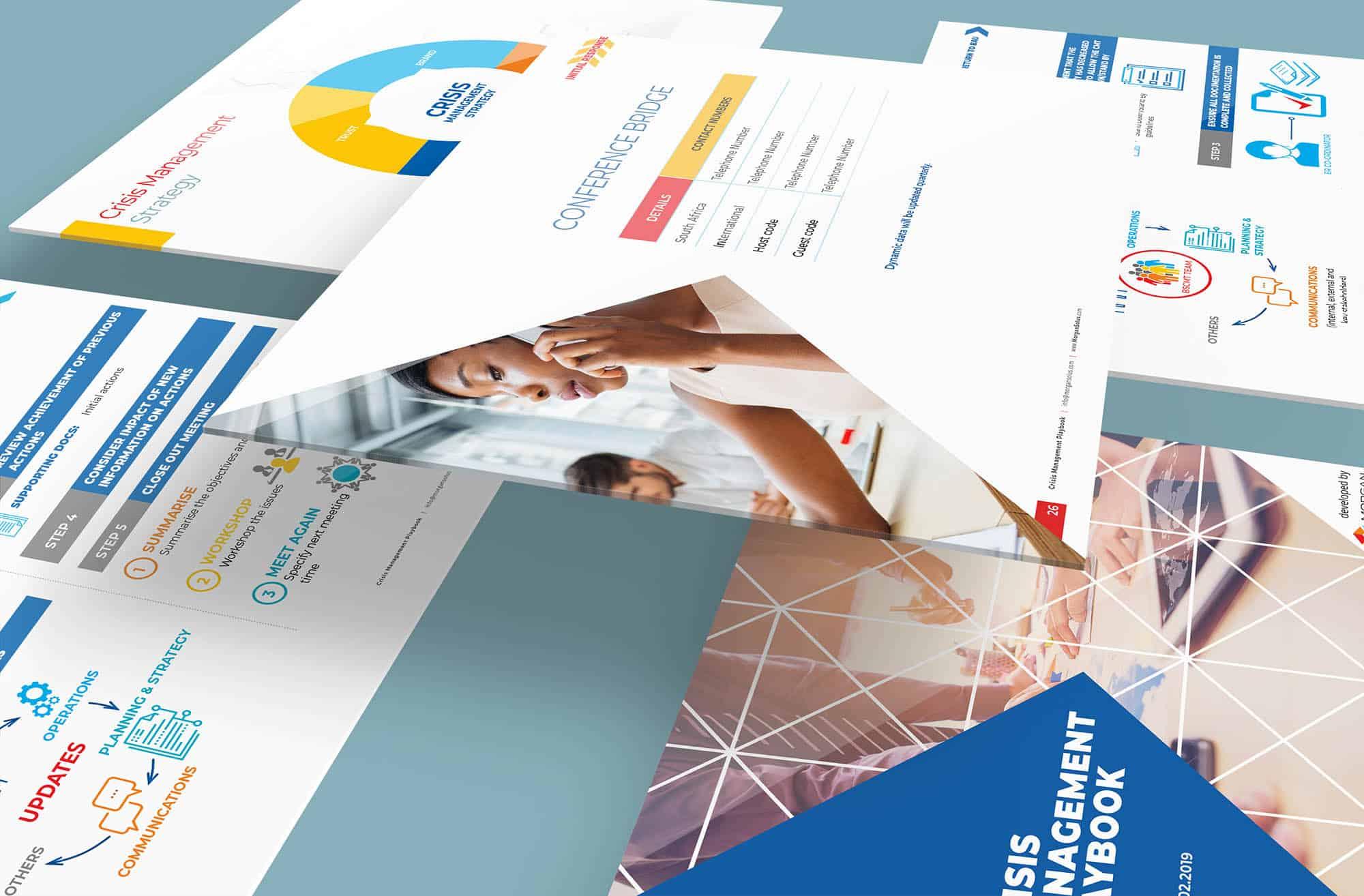 Presentation Design Morgan Solus Crisis Management Playbook