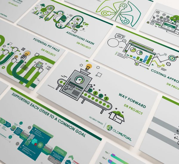 Old Mutual Presentation with Custom Infographics